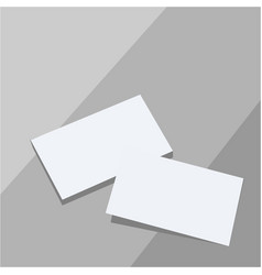 two blank sheets of paper or paper stickers with vector image