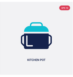 two color kitchen pot icon from food concept vector image