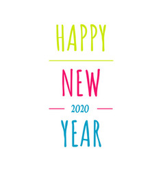 vintage happy new year 2020 background concept vector image