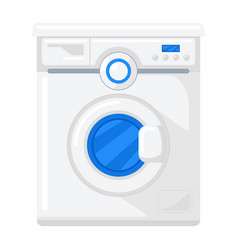 Washer icon machine for washing clothes bed vector