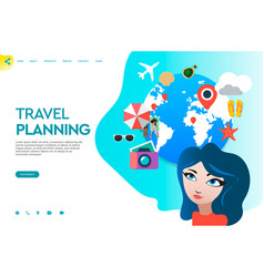 Web page template business apps travel vector