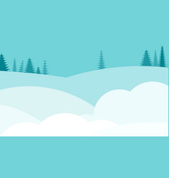 winter snowy deserted landscape flat vector image