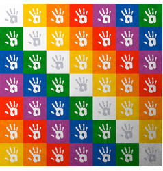 wiphala indian people hand print flag concept vector image