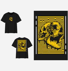 Yellow strip skull vector