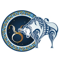 Zodiac signs - Taurus vector image