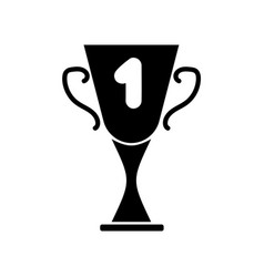 Cup winner sign mono 2903 vector