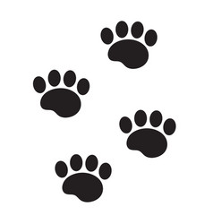 foot marks of an animal icon flat cartoon style vector image vector image