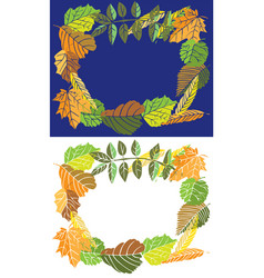 frame autumn leaves vector image