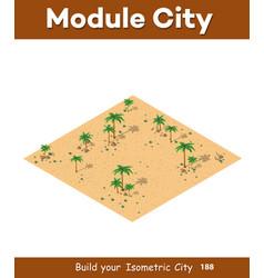 natural desert landscape vector image