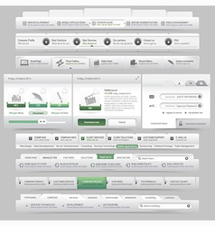 Web site design menu navigation vector