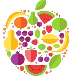 Apple fruit icons vector image vector image