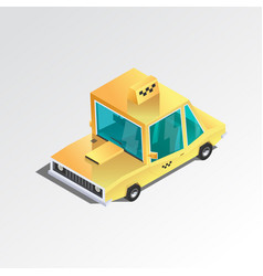 flat 3d isometric taxi vector image vector image