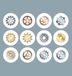 gear mechanics gearing web vector image