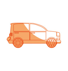 isolated coupe car vector image