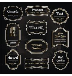 set 6 of design elements sample labels shapes vector image