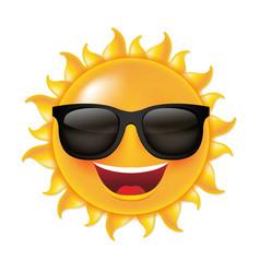 sun smile vector image