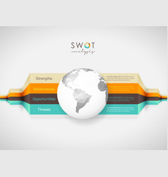 swot - strengths weaknesses opportunities vector image vector image