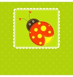 template greeting card scrap vector image
