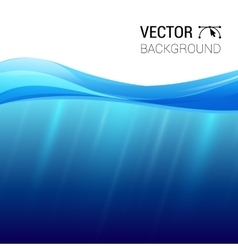 Water wave transparent surface with vector image
