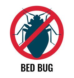 Anti bed bug emblem white on vector