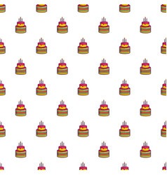 colorful birthday cake pattern vector image