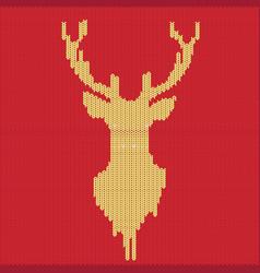 knitted deer pattern vector image