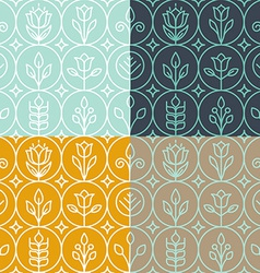 mono line graphic design templates vector image vector image