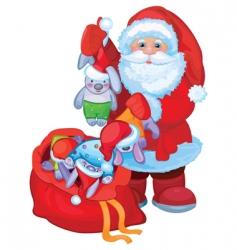 Santa Claus background vector image