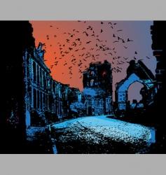 war ruins in vector vector image