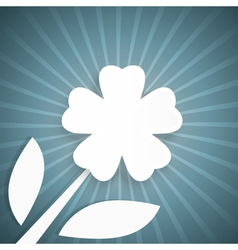 Abstract background with rays and white flower vector image vector image