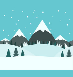 beautiful snowy winter landscape vector image