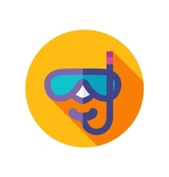 Diving Mask flat icon with long shadow vector image