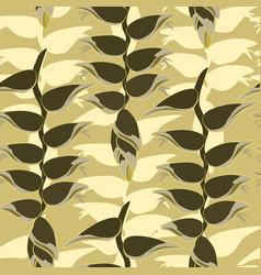 Floral leaves pattern leaf seamless background vector