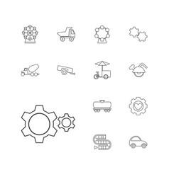 13 wheel icons vector