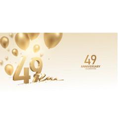 49th anniversary celebration background vector