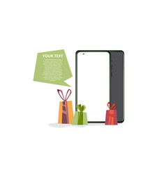 a gifts and phone banner vector image