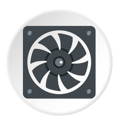 Air conditioner compressor unit icon circle vector
