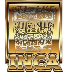 Ancient Peruvian gold ornament vector image