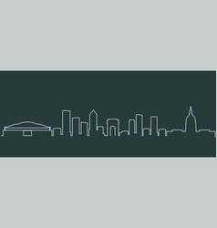 Atlanta single line skyline vector