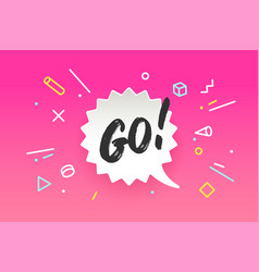 banner go in geometric style vector image