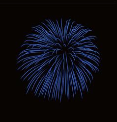Beautiful blue firework bright firework isolated vector