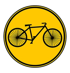 Bike button vector image