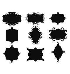 black vintage frame set vector image