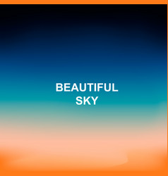 blurred nature background words beautiful sky in vector image