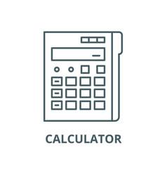 calculator line icon linear concept vector image