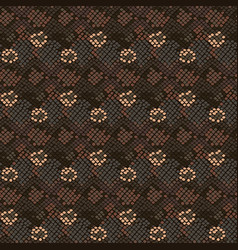 Camouflage snake stains seamless pattern vector
