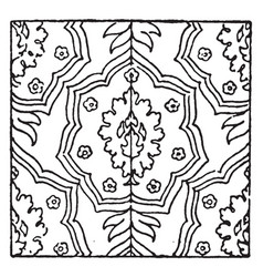 Carpet pattern is a 17th century design found in vector