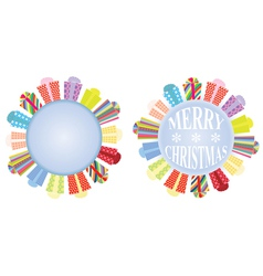 circles with presents vector image
