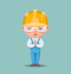 Convince agree pray ask cute builder engineer vector
