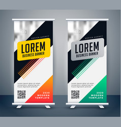 creative business roll up banner standee template vector image